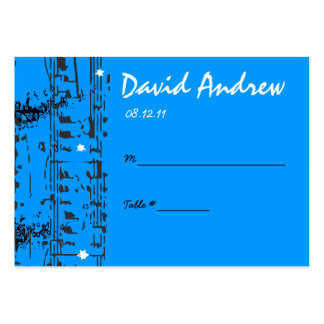 Music Notes Stars Table Place Card Setting Large Business Cards (Pack Of 100)