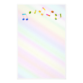 Music Notes Stationery