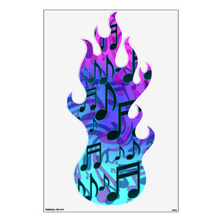 Music Notes Swirly Musical Abstract Eighth Notes Wall Decal