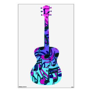 Music Notes Swirly Musical Aqua Blue Purple Pink Wall Skins