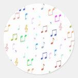 Music Notes & Symbols Classic Round Sticker