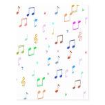Music Notes & Symbols Postcard