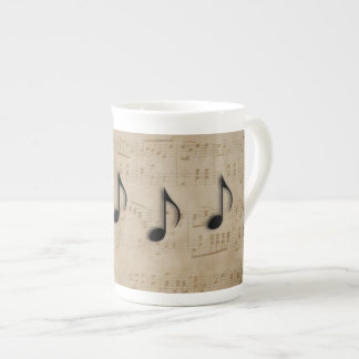 Music Notes Tea Cup