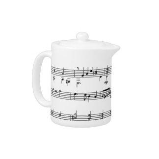 Music Notes Teapot