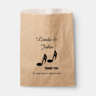 Music Notes Thank You Favor Bags
