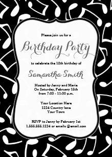 Music birthday invitations zazzle music notes themed birthday party invitation filmwisefo