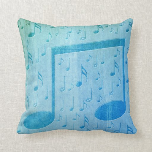 No Throw Pillows On The Bed Song : Music Notes Throw Pillow Zazzle