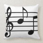 Music Notes Throw Pillows