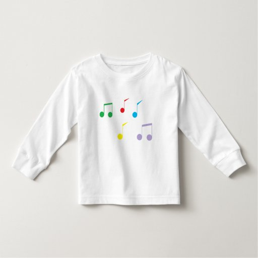 Music Notes Toddler Long Sleeve T-shirt