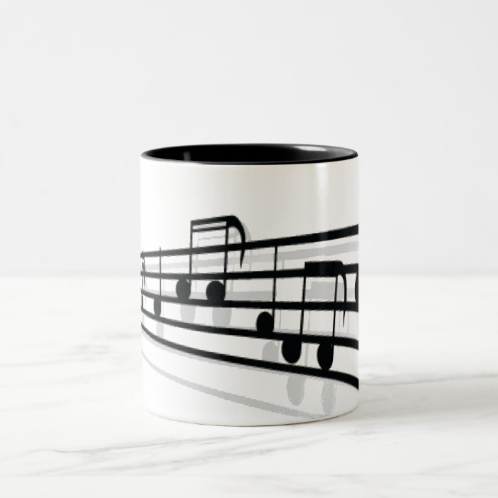 Music Notes Two-Tone Coffee Mug