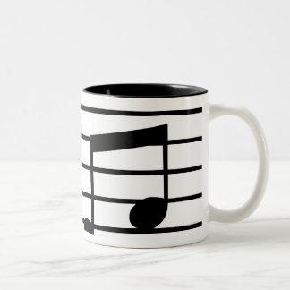Music Notes Two-Tone Coffee Mug
