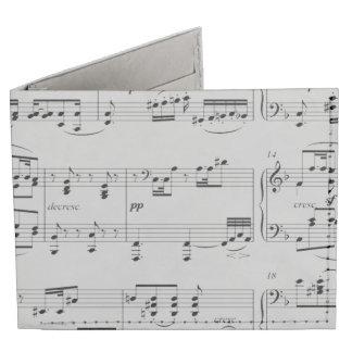 music notes tyvek wallet