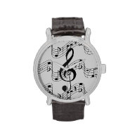 Music Notes Wrist Watches
