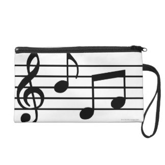 Music Notes Wristlet Purse