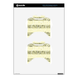Music notes xbox 360 controller decal
