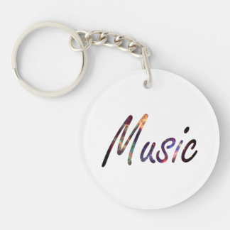 Music nova text script keychain