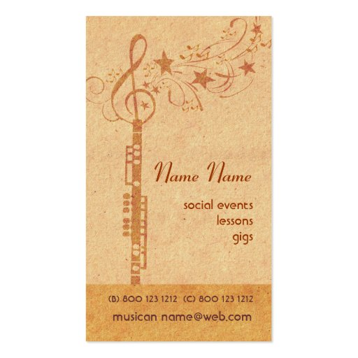 Music oboe Band Business Cards
