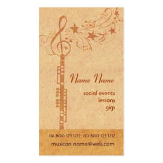 Music Oboe Band - Concert Wind Musical Instrument Double-Sided Standard Business Cards (Pack Of 100)