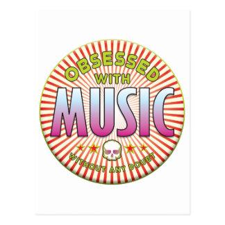 Music Obsessed R Postcard