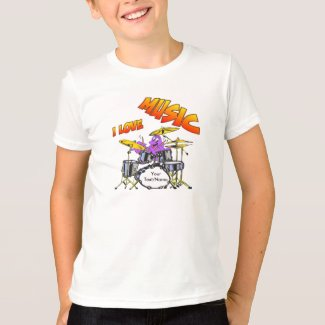 Music Octopus Customizable Kids T-shirt