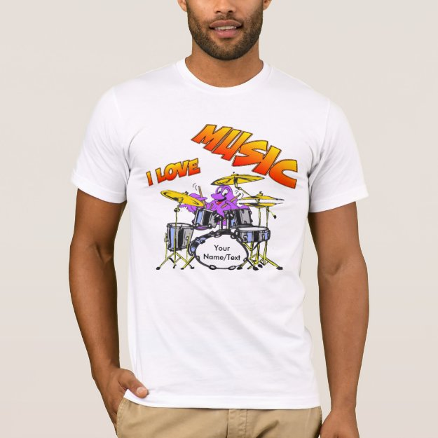 Music Octopus Customizable Men's T-shirt