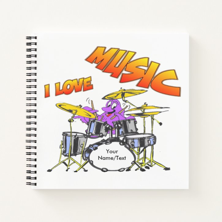 Music Octopus Square Notebook