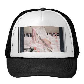 Music of Flute and Keys Cap Trucker Hat