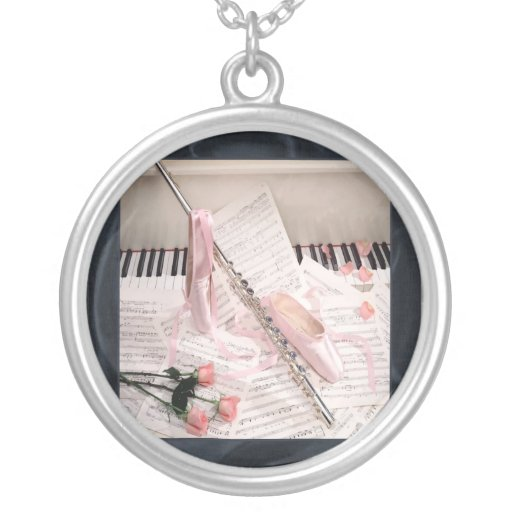Music of Flute and Keys Necklace