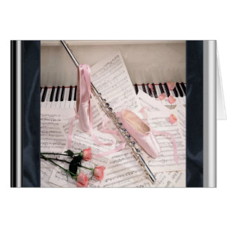 Music of Flute and Keys Note Card