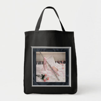 Music of Flute and Keys Tote Bag