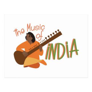 Music Of India Postcard