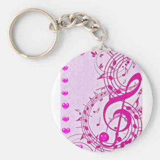 Music of love_ basic round button keychain