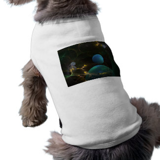 Music of my Goddess, Abstract Cyan Mystery Planet Doggie Tshirt