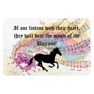 Music Of The Unicorn Rectangular Photo Magnet