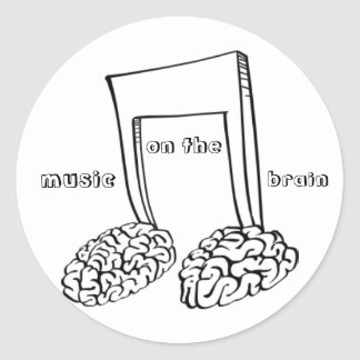 Music on the Brain Classic Round Sticker
