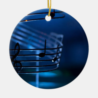 Music Double-Sided Ceramic Round Christmas Ornament