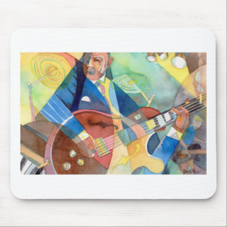 """Music Painting """"Jazz Guitarist"""" Mouse Pad"""