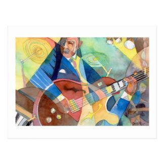 "Music Painting ""Jazz Guitarist"" Post Card"