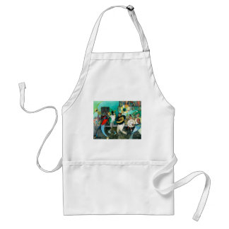 """Music Painting """"New Orleans Jazz"""" Adult Apron"""