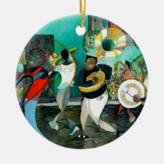 "Music Painting ""New Orleans Jazz"" Ceramic Ornament"