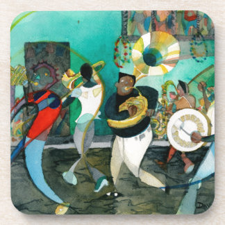 """Music Painting """"New Orleans Jazz"""" Coaster"""