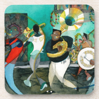 "Music Painting ""New Orleans Jazz"" Beverage Coaster"