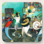 """Music Painting """"New Orleans Jazz"""" Drink Coaster"""