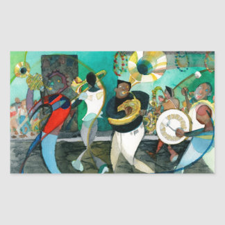 """Music Painting """"New Orleans Jazz"""" Stickers"""