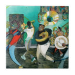 "Music Painting &quot;New Orleans Jazz&quot; Tile<br><div class=""desc"">This high-spirited fun musical design, based on a watercolor painting titled &quot;New Orleans Brass Band Jazz&quot; by David Ralph, is ideal for that party-going person who loves New Orleans. A group of young New Orleans musicians play a new brand of ragtime brass band jazz for the crowds on Bourbon street...</div>"
