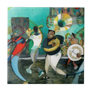 "Music Painting ""New Orleans Jazz"" Tile"