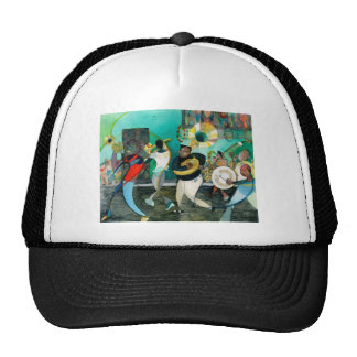 """Music Painting """"New Orleans Jazz"""" Trucker Hats"""