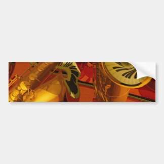 Music paintings Piano, electric guitar, jazz songs Car Bumper Sticker