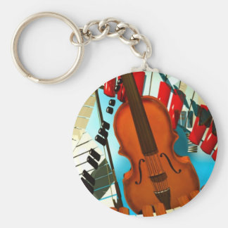 Music paintings Piano, electric guitar, jazz songs Keychains
