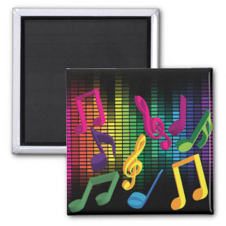Music Party Background 2 Inch Square Magnet